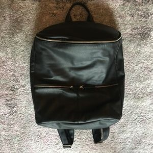 Mossimo Black Leather Backpack